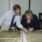 Nick and David examining the Gough Map